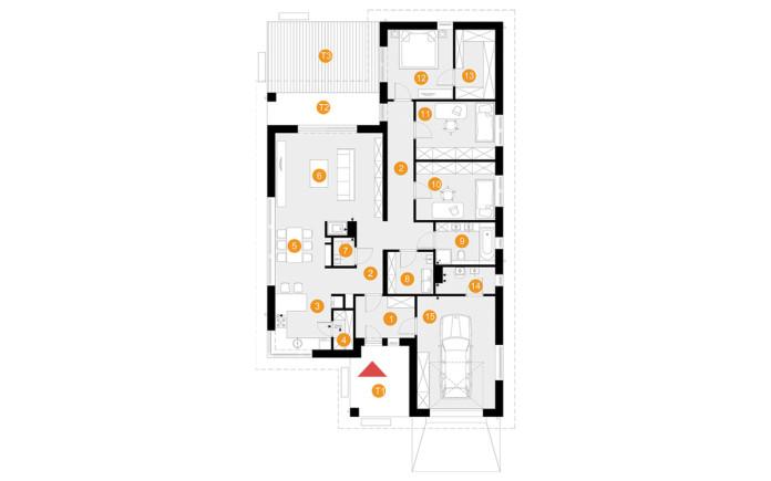 projekt domu Hary - rzut