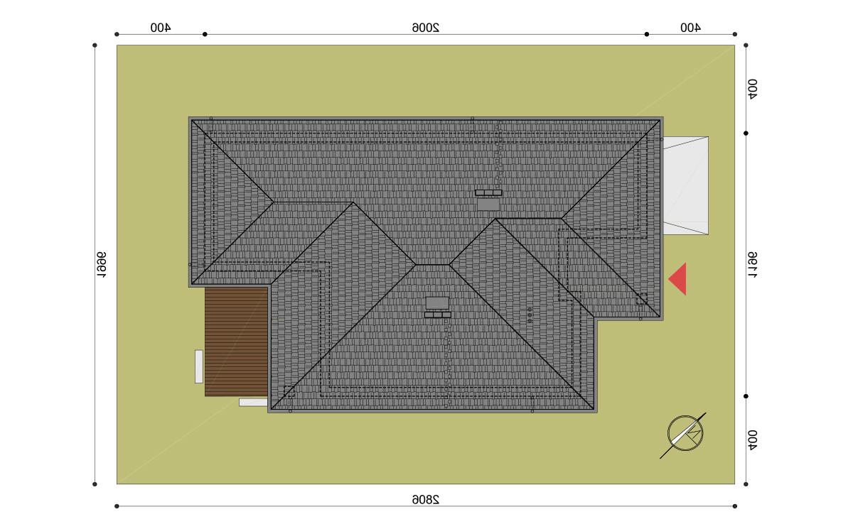 Projekt domu Hary I działka