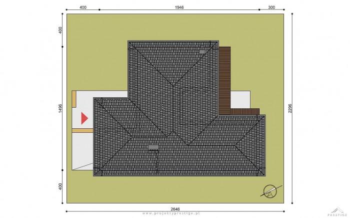 Projekt domu Wilson II działka