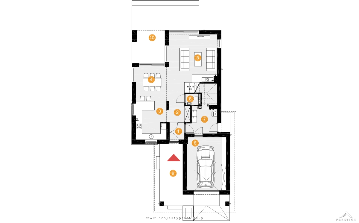 Projekt domu Hubert III rzut