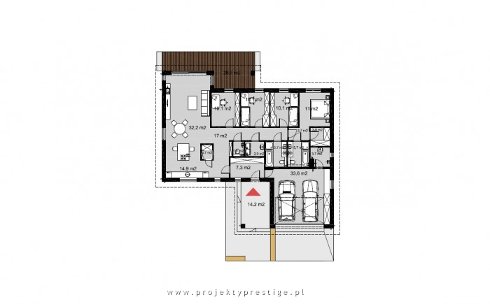 Projekt domu Wilson IV rzut