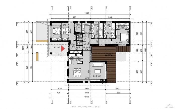 Projekt domu Wilson II rzut