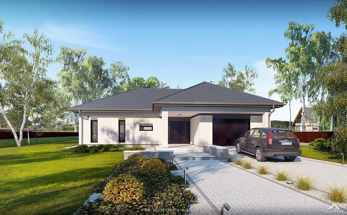 Projekt domu Wilson I - wizualizacja zewnętrzna