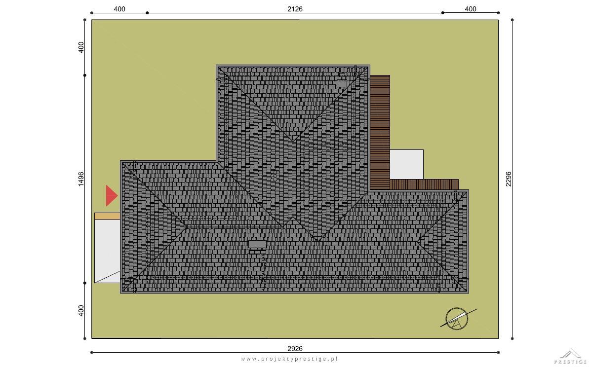 Projekt domu Wilson I działka