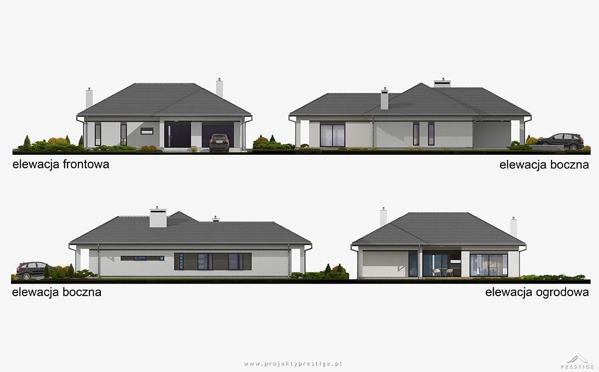 Projekt domu Wilson I elewacja