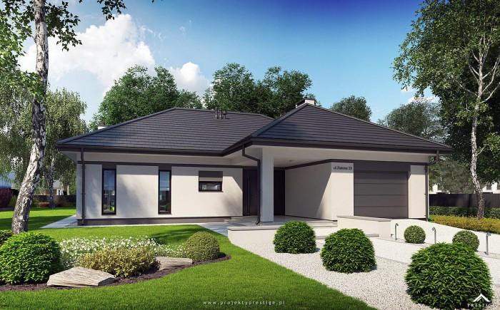 Projekt domu Wilson II - wizualizacja zewnętrzna