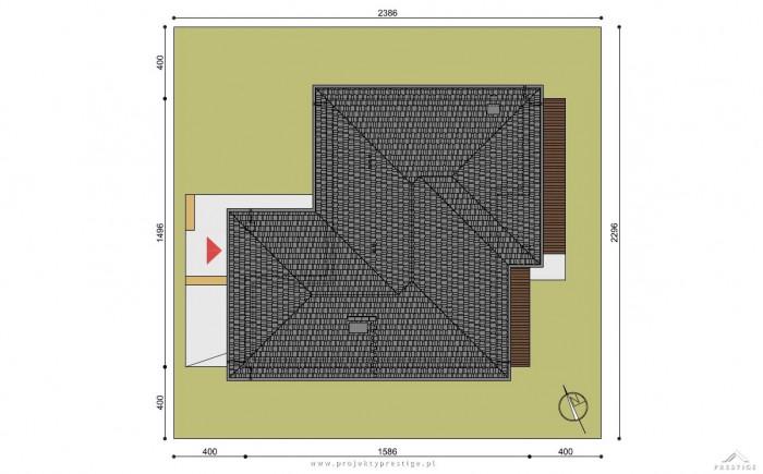 Projekt domu Wilson III działka