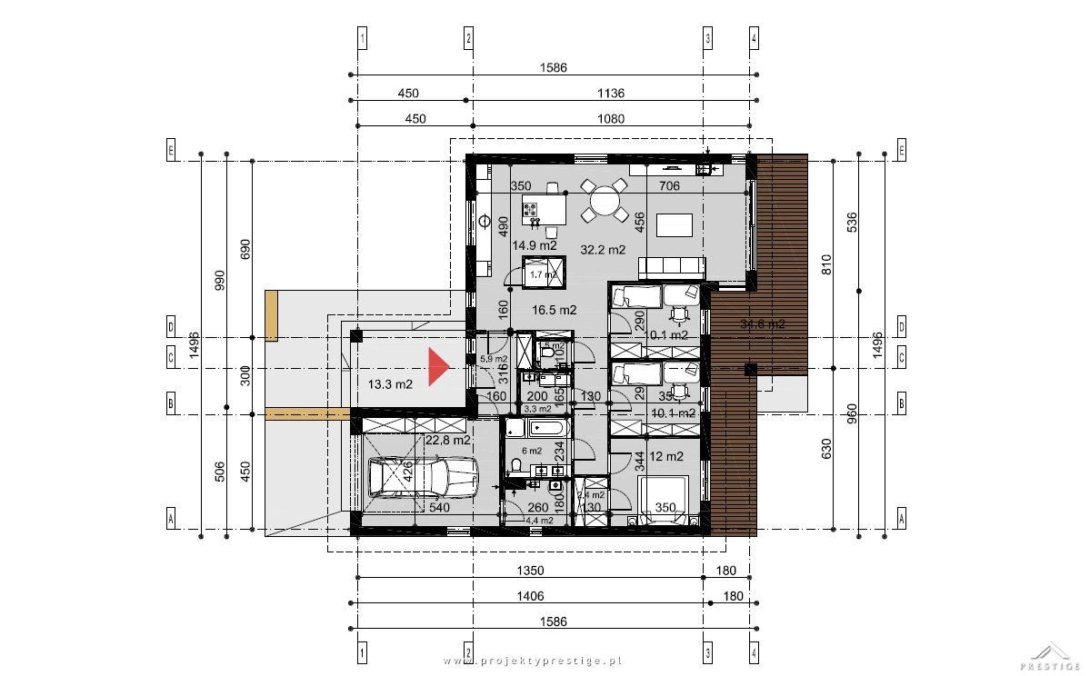 Projekt domu Wilson III rzut