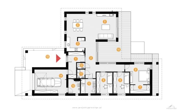 Projekt domu Wilson I rzut