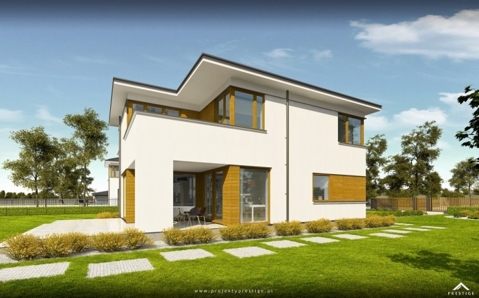 Projekt domu Hubert II - wizualizacja zewnętrzna