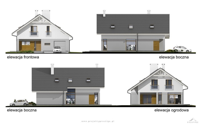Projekt domu Michał elewacja