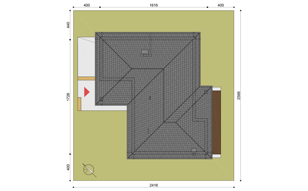 Projekt domu Wilson IV działka