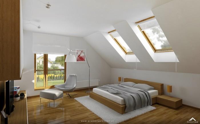 Projekt domu Beti - wizualizacja wewnętrzna