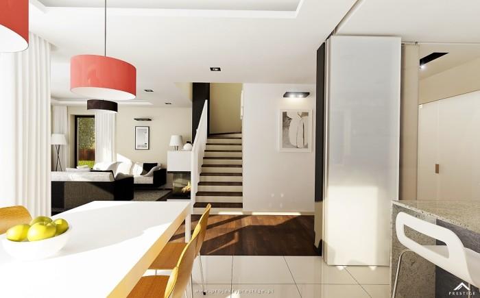 Projekt domu Hubert I - wizualizacja wewnętrzna