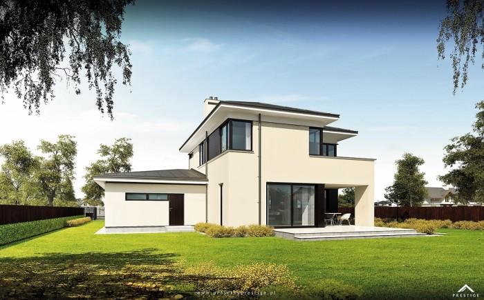 Projekt domu Hubert I - wizualizacja zewnętrzna