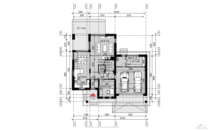Projekt domu Hubert I rzut
