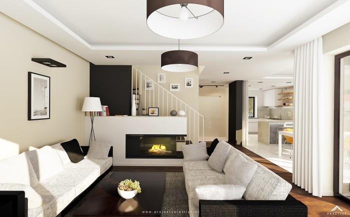 Projekt domu Hubert II - wizualizacja wewnętrzna