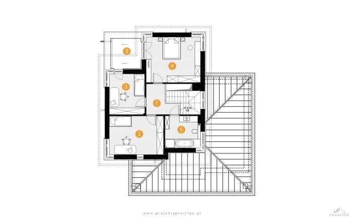 Projekt domu Hubert II rzut