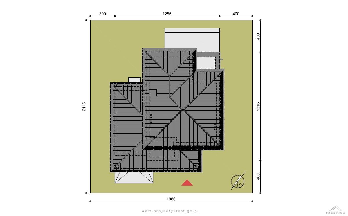 Projekt domu Hubert II działka