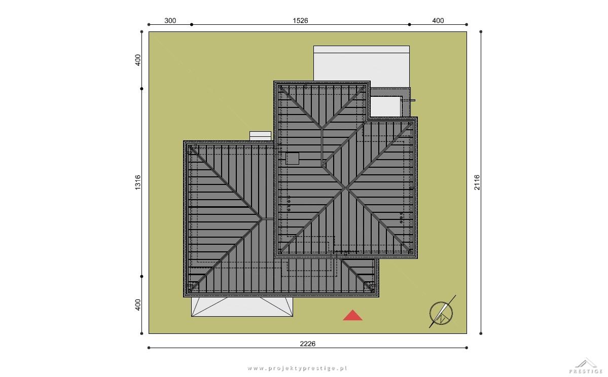 Projekt domu Hubert I działka