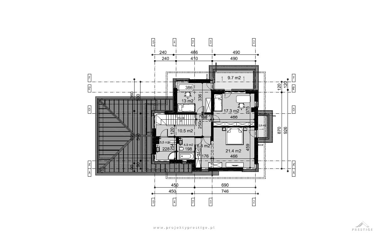 Projekt domu Przemek rzut