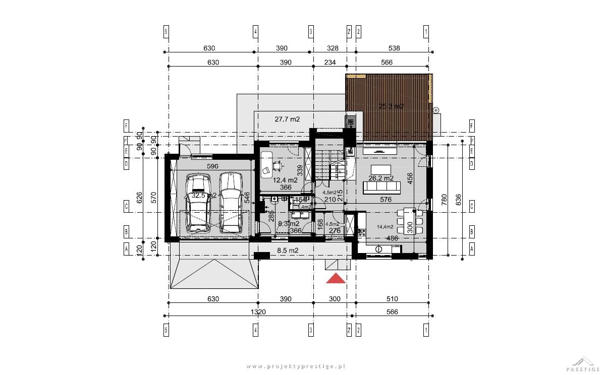 Projekt domu Wiliam I rzut