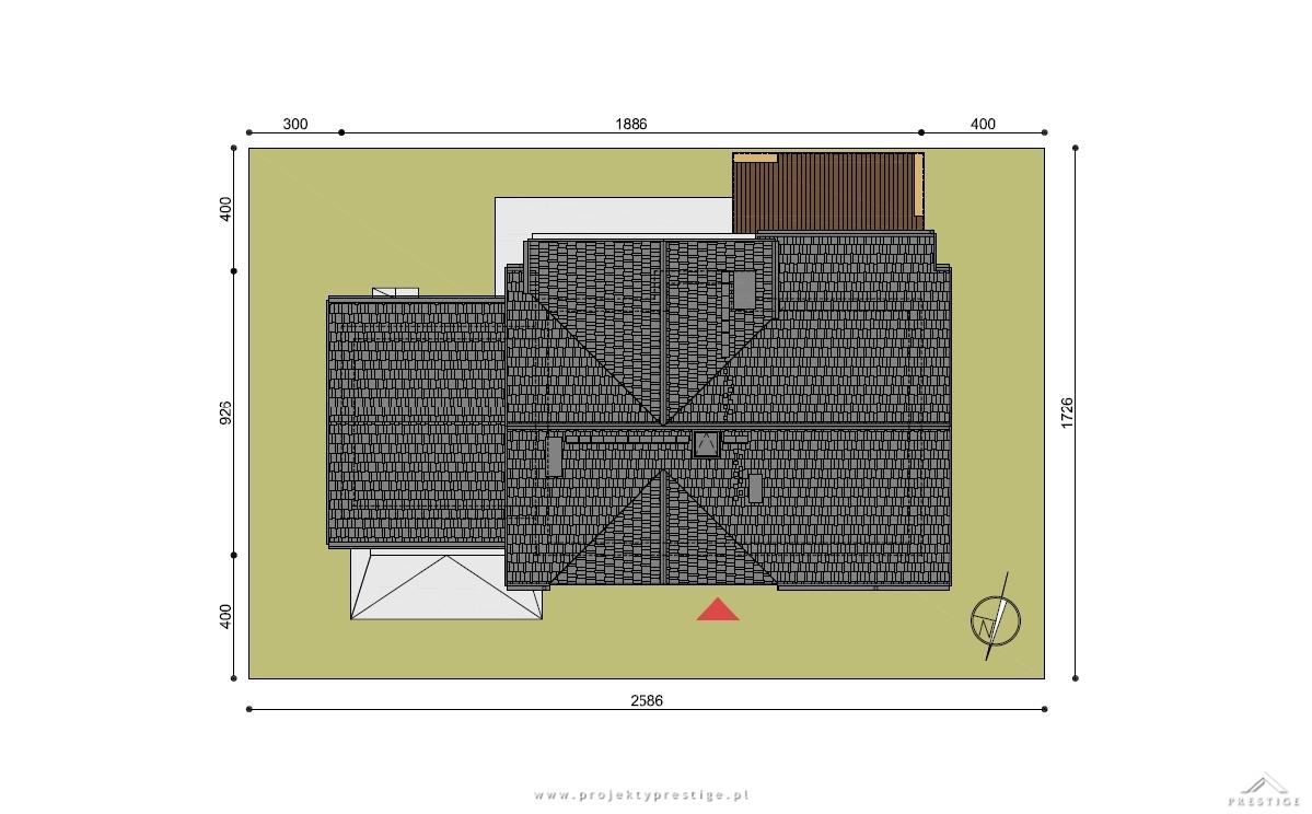 Projekt domu Wiliam I działka