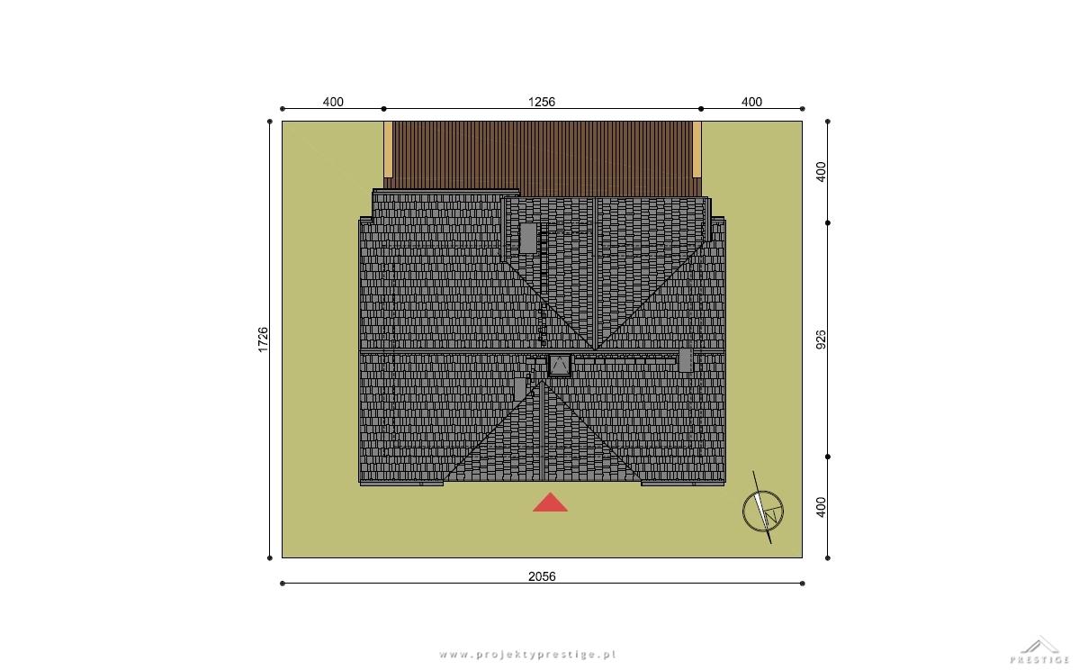 Projekt domu Wiliam II działka