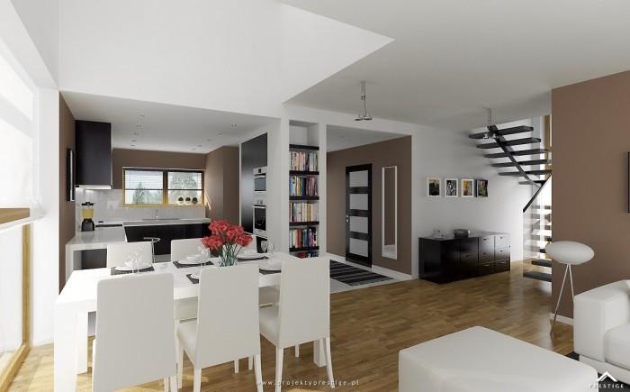 Projekt domu Michał - wizualizacja wewnętrzna