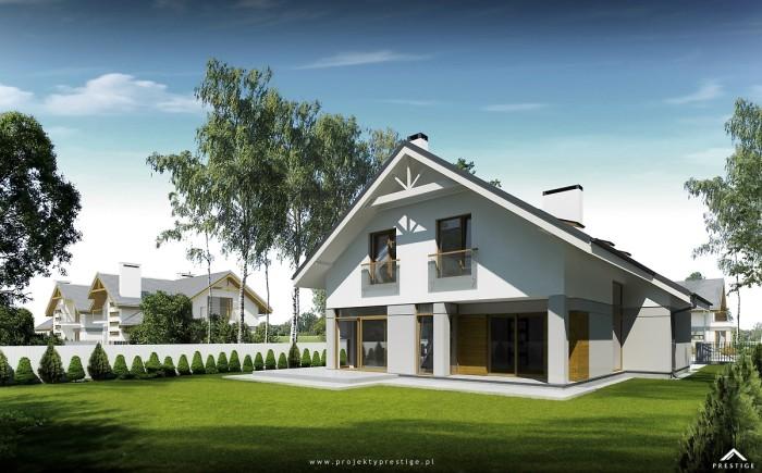 Projekt domu Michał - wizualizacja zewnętrzna