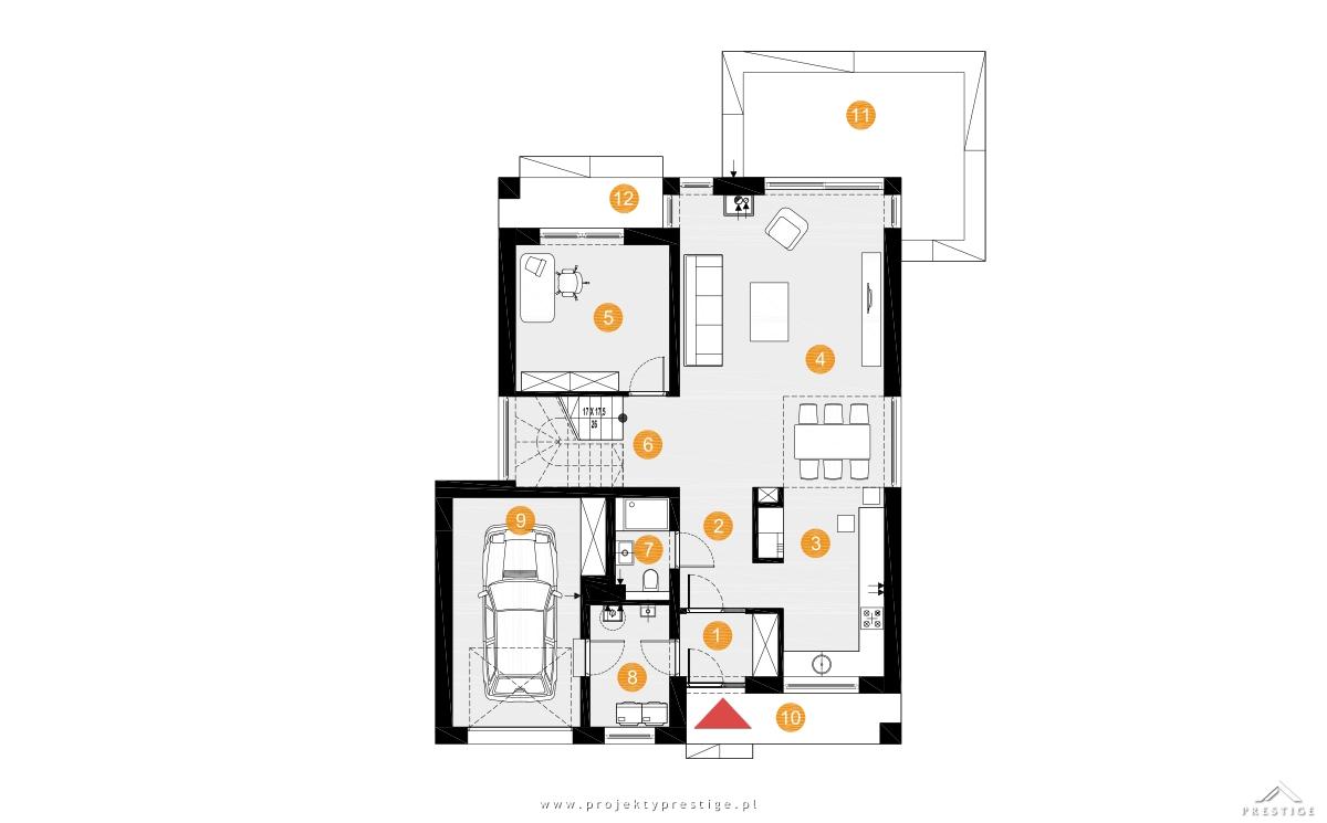 Projekt domu Michał rzut