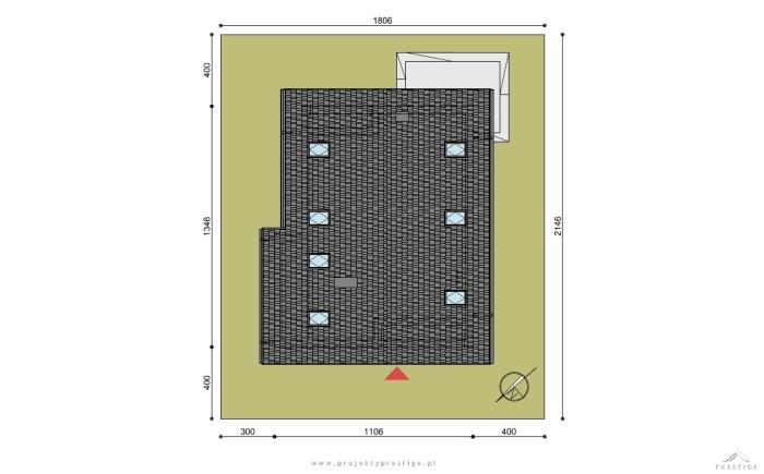 Projekt domu Michał działka