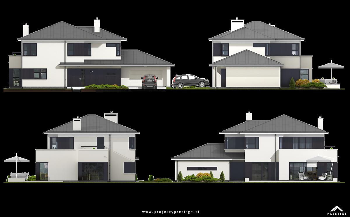 Projekt domu Przemek elewacja