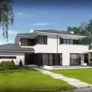 Projekt domu Przemek - wizualizacja zewnętrzna
