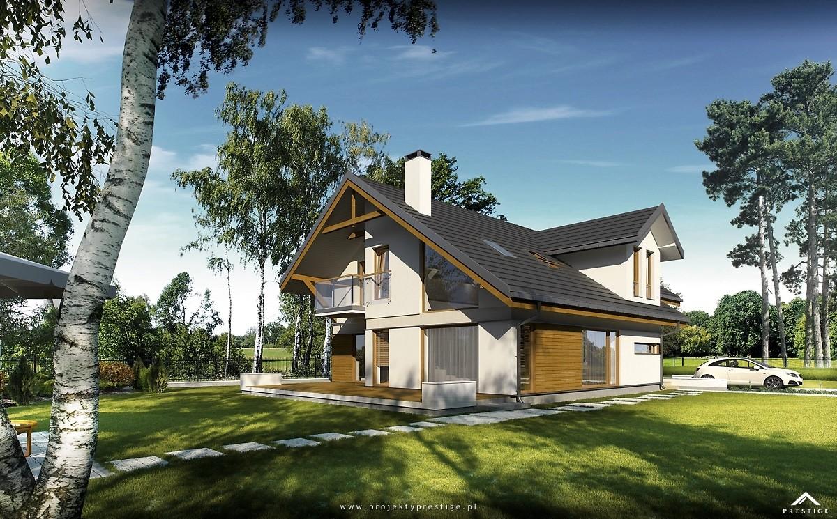 Projekt domu Wiktor - wizualizacja zewnętrzna