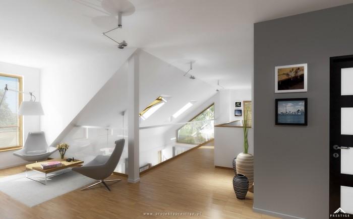 Projekt domu Wiktor - wizualizacja wewnętrzna