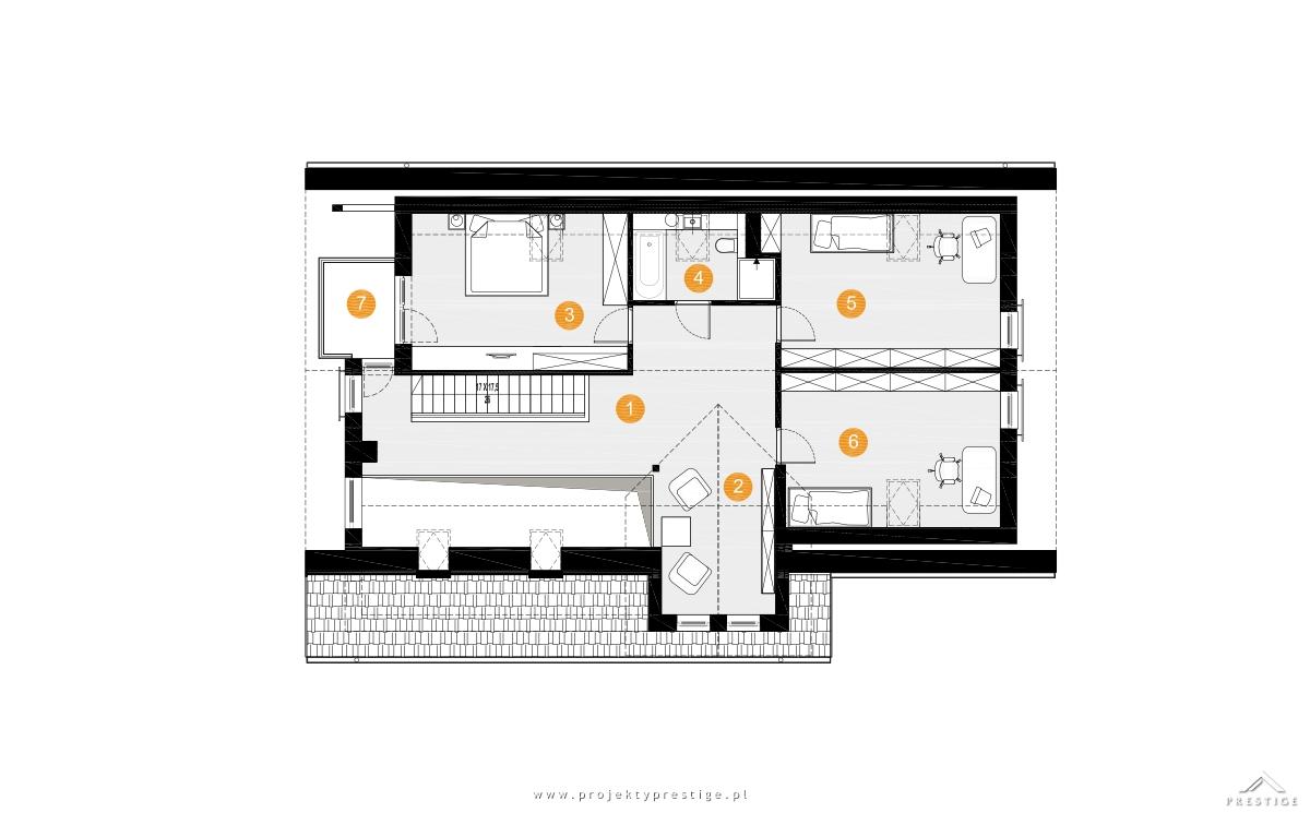 Projekt domu Wiktor rzut