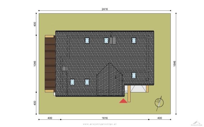 Projekt domu Wiktor działka