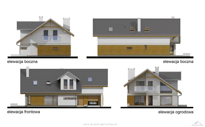 Projekt domu Wiktor elewacja