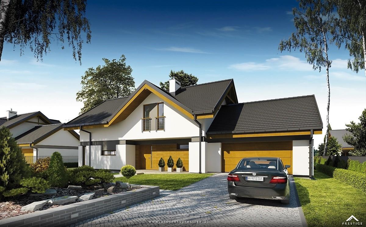 Projekt domu Wiliam I - wizualizacja zewnętrzna