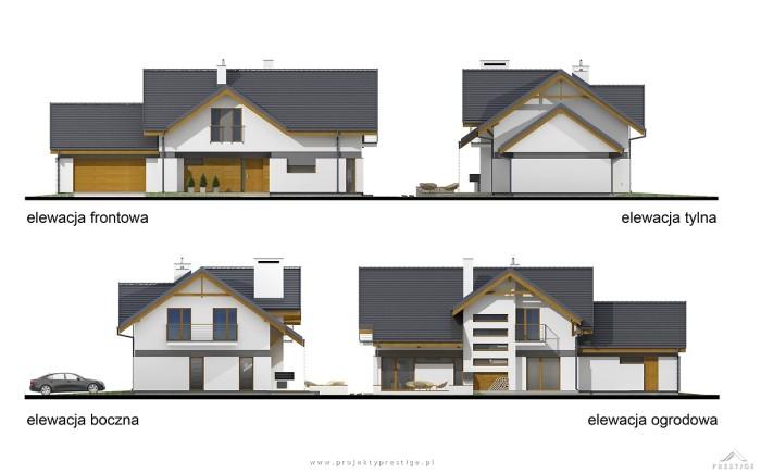Projekt domu Wiliam I elewacja