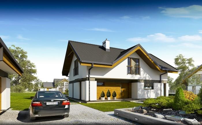 Projekt domu Wiliam II - wizualizacja zewnętrzna