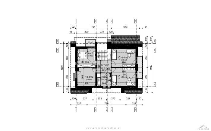 Projekt domu Wiliam II rzut