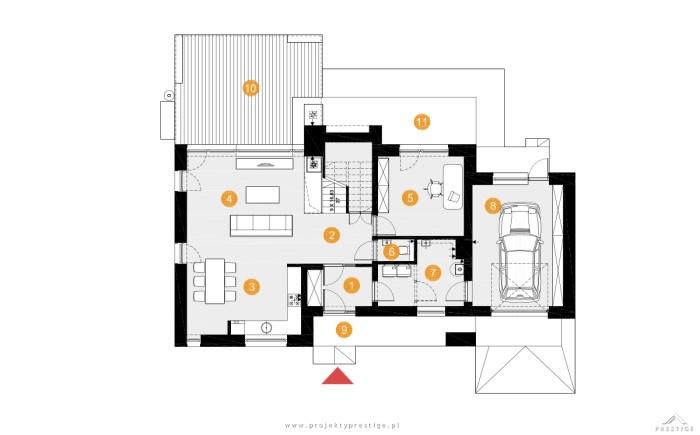 Projekt domu Wiliam III rzut