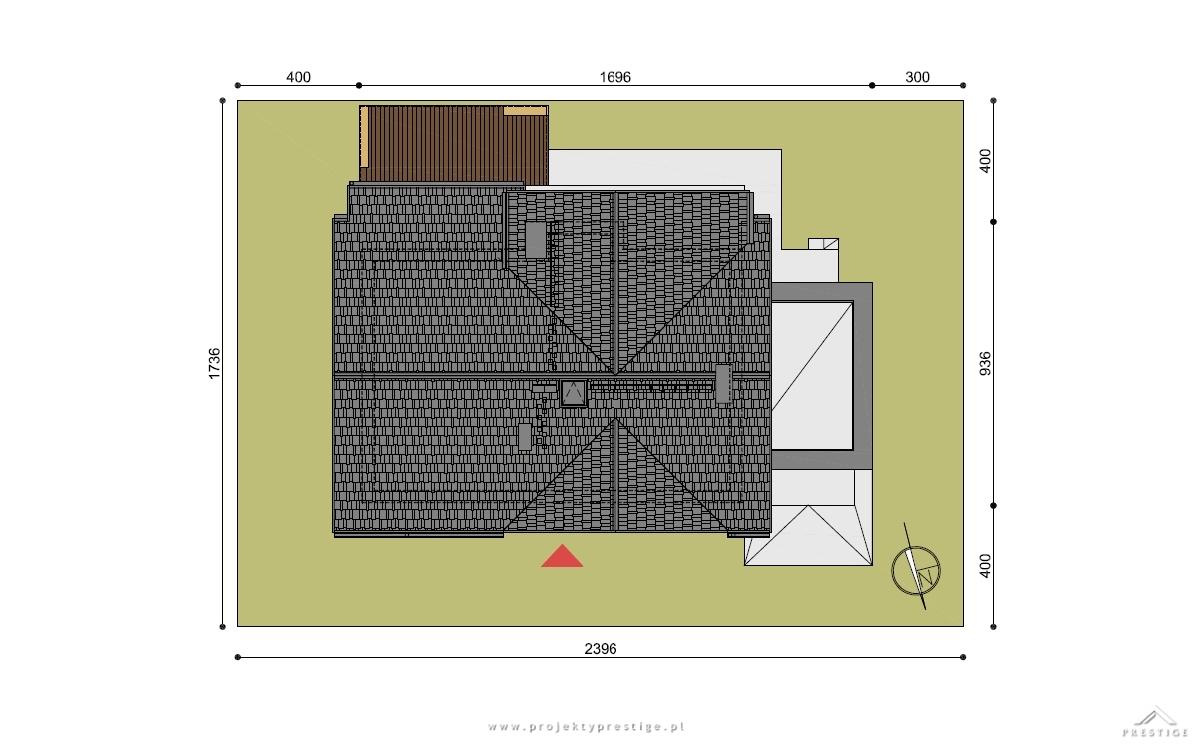 Projekt domu Wiliam III działka