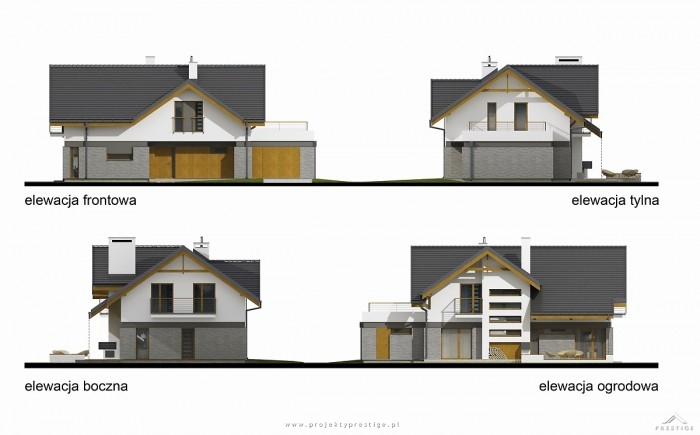 Projekt domu Wiliam III elewacje