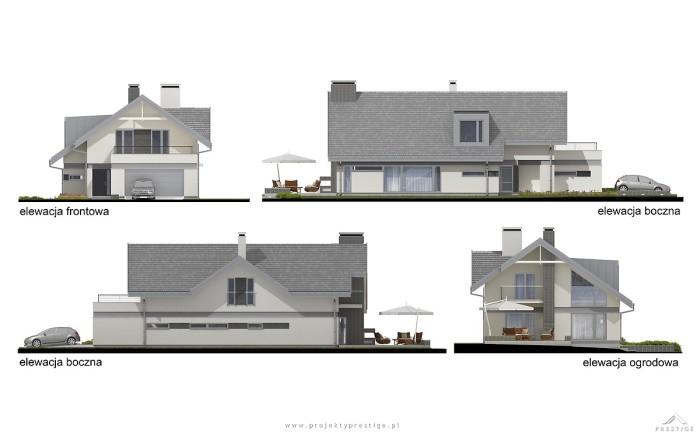 Projekt domu Kornelia elewacja