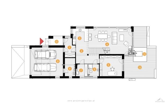 Projekt domu Kornelia rzut parteru
