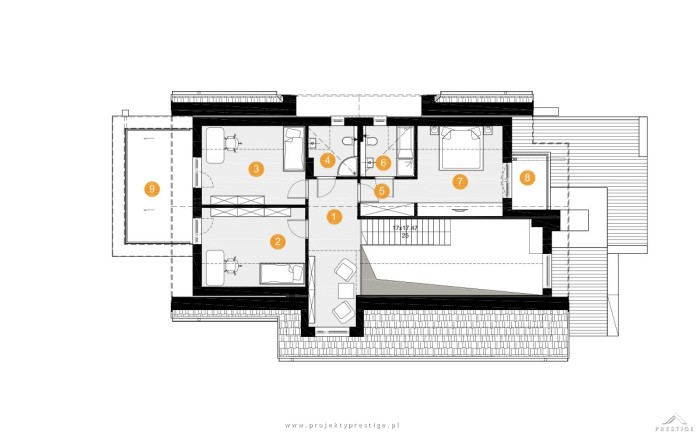 Projekt domu Kornelia rzut piętro