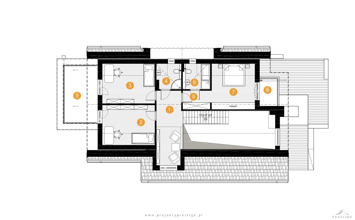 Projekt domu Kornelia rzut